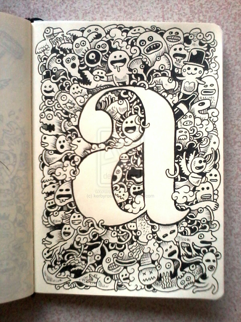 doodle art  a is for a...