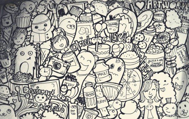Doodle Art : Seni Mencoret  Vincent Cahya